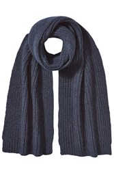 Closed Scarf With Alpaca And Wool Blue