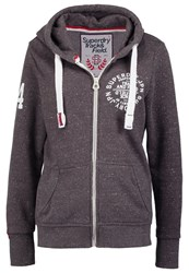 Superdry Track And Field Tracksuit Top Slate Snowy Dark Grey