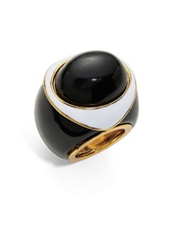 Trina Turk Contrast Statement Ring Black