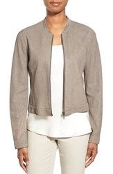 Women's Elie Tahari 'Cleary' Die Cut Leather Crop Jacket