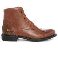 G Star Camel Coloured Warth Tip Toe Lined Boots