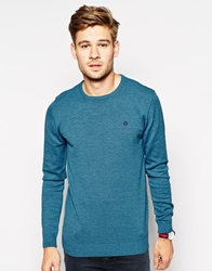 Blend Of America Blend Crew Knit Jumper Slim Fit Moroccanblue