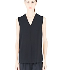 Lanvin Sleeveless V Top Black