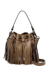 Sr2 Mini Fringe Drawstring Crossbody Gray