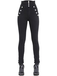 Isabel Marant Super High Waist Stretch Cotton Pants