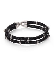 Stinghd Black Diamond Silver And Stingray Wrap Bracelet