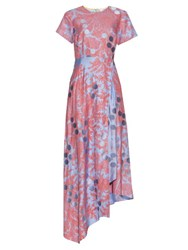 Jonathan Saunders Polly Paisley Print Twill Dress Pink Multi