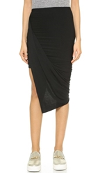 Bop Basics Jersey Draped Skirt Black