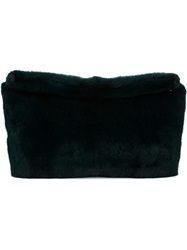 Derek Lam Mink Fur Clutch Green