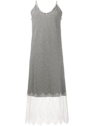 Walk Of Shame Sleeveless Slip Dress Grey