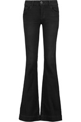 J Brand Lovestory Low Rise Flared Jeans Black