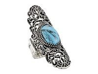 Sam Edelman Filagree Stone Ring Turquoise Rhodium Ring Green