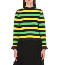 J.W.Anderson Striped Knitted Jumper Green Yellow
