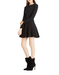Bcbgeneration Long Sleeve Fit And Flare Dress Black