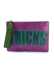House Of Holland 'Bag Of Tricks' Clutch Pink And Purple