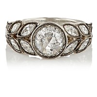 Cathy Waterman Women's White Diamond And Platinum Garland Ring No Color