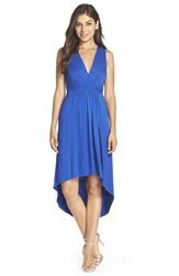 Felicity Coco Pleated High Low Dress Nordstrom Exclusive Cobalt
