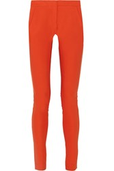 Stella Mccartney Stretch Cotton Blend Skinny Pants Orange