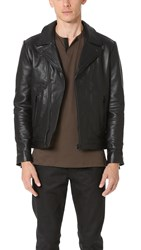 The Kooples Leather Moto Jacket Black