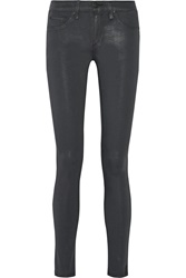 Rag And Bone Waxed Cotton Blend Leggings