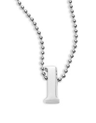 Alex Woo Icon Sterling Silver L Initial Necklace H