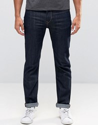 Lee Rider Stretch Slim Jeans Rinse Wash Rinse Blue