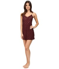 Only Hearts Club Stretch Lace Chemise Wine Women's Pajama Burgundy