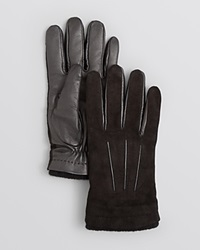 The Men's Store At Bloomingdale's Suede And Leather Palm Tech Gloves Bloomingdale's Exclusive Black