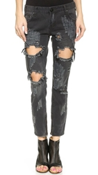 One Teaspoon Trashed Freebird Jeans Vintage Black
