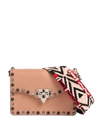 Valentino Small Rockstud Bag W Embroidered Strap