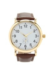 Forever 21 Men Faux Leather Analog Watch