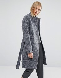 Native Youth Wool Dresser Overcoat Navy