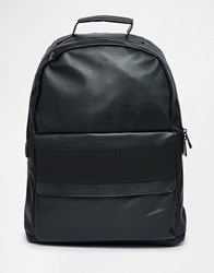 Asos Backpack With Elastic Strap Black