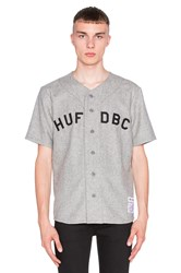 Huf Captain's Baseball Jersey Gray