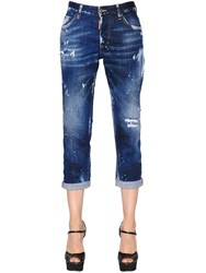Dsquared Boyfriend Washed Stretch Denim Jeans