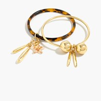 J.Crew Tortoise And Gold Plated Charm Bracelets