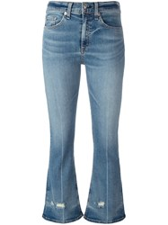 Rag And Bone Jean Cropped Flared Jeans Blue