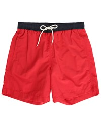 Ben Sherman Red Swim Shorts With Contrasting Waistband