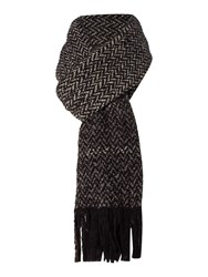 Marella Incenso Textured Wool Scarf Black