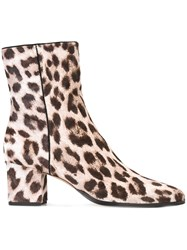 Alexandre Birman Leopard Pattern Ankle Boots Nude And Neutrals