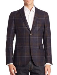 Etro Plaid Wool Sportcoat Multicolor