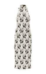 Cushnie Et Ochs Lotus Cable Embroidered Dress White
