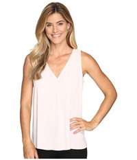 Vince Camuto Sleeveless V Neck Drape Front Blouse Hush Pink Women's Blouse