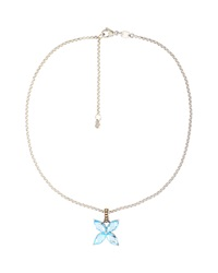 John Hardy Batu Kawung Blue Topaz Butterfly Necklace