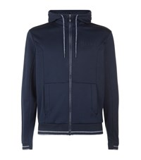 Hugo Boss Green Full Zip Hoodie Male Navy