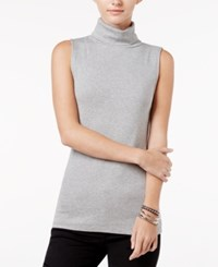 Maison Jules Sleeveless Mock Turtleneck Top Only At Macy's Grey