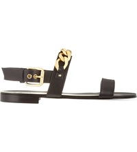 Giuseppe Zanotti Chain Double Strap Sandals Blk Other