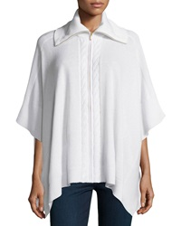 Magaschoni Cashmere Cable Panel Poncho