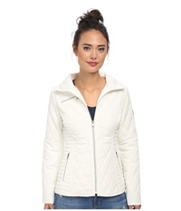Jessica Simpson Single Breasted Quilted Coat With Floral Lining Ivory Women's Coat White
