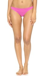 Stella Mccartney Stella Smooth And Lace Thong Rose Violet